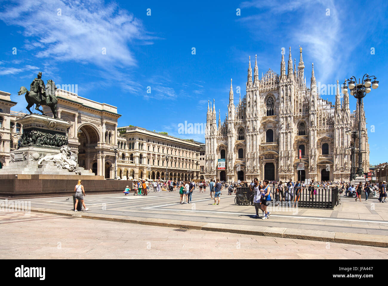 The Central area of Milan - Stock Image