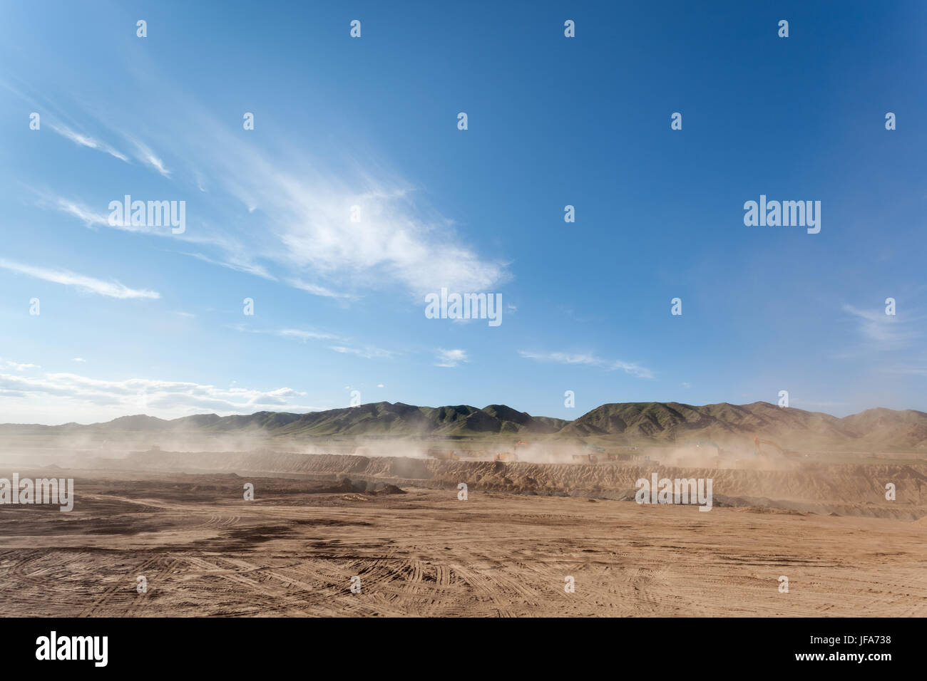 dusty construction site - Stock Image