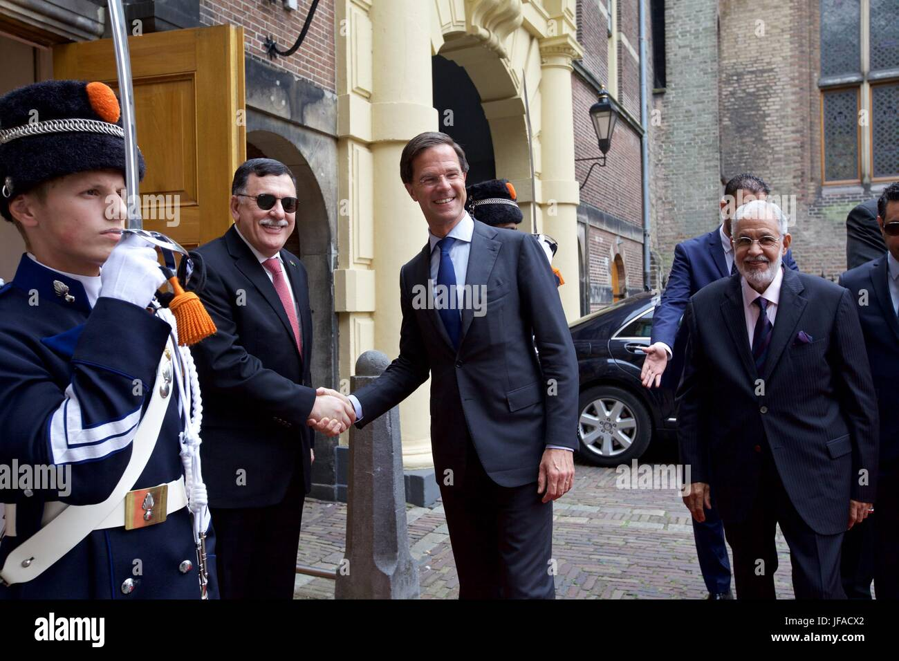 Maurits Hendriks Netherlands Prime Minister Mark Rutte L: C Libyan Stock Photos & C Libyan Stock Images