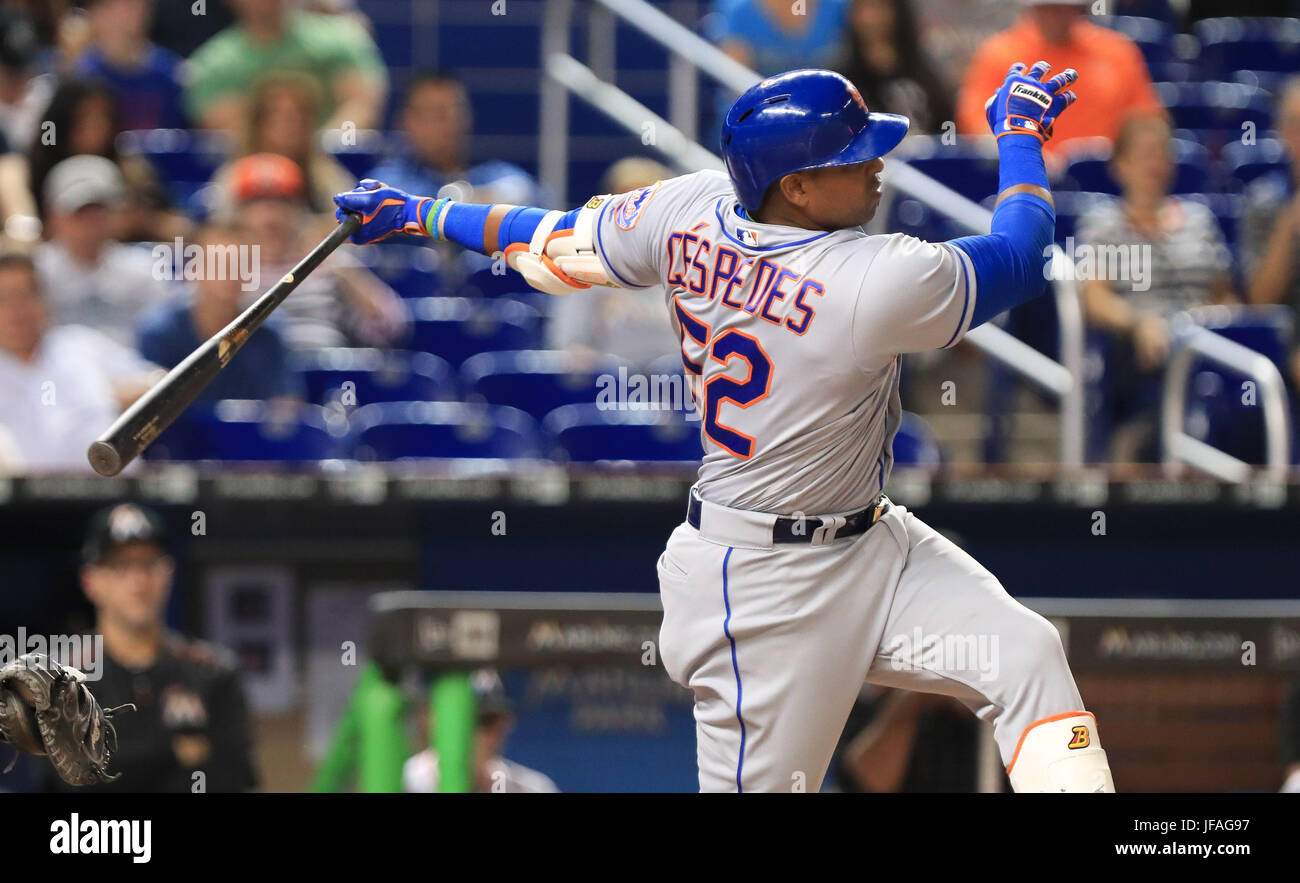 brand new e6b3f 8b478 June 29, 2017: New York Mets left fielder Yoenis Cespedes ...