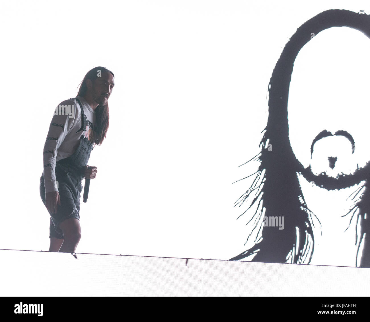 Milwaukee, Wisconsin, USA. 29th June, 2017. STEVE AOKI performs live at Henry Maier Festival Park during Summerfest - Stock Image