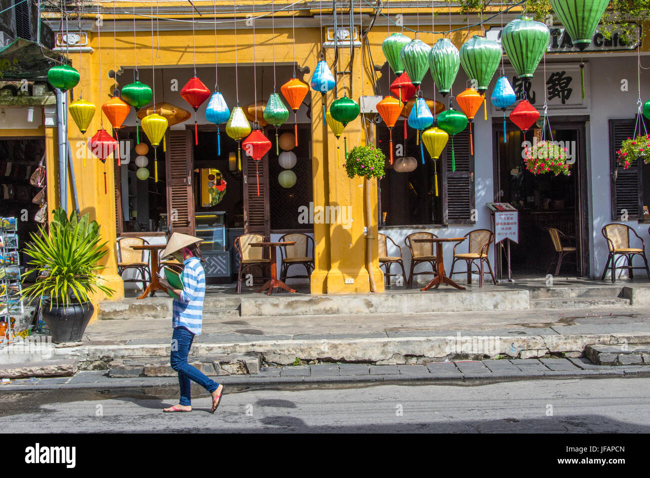 Traditional lanterns in Hoi An, Vietnam - Stock Image