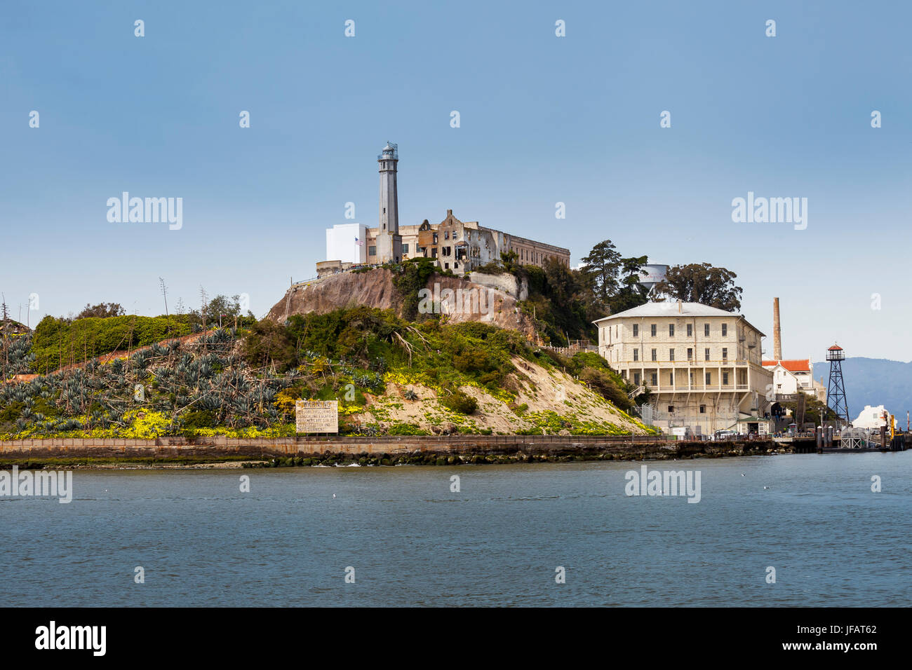 Alcatraz penitentiary, San Francisco, California, USA - Stock Image