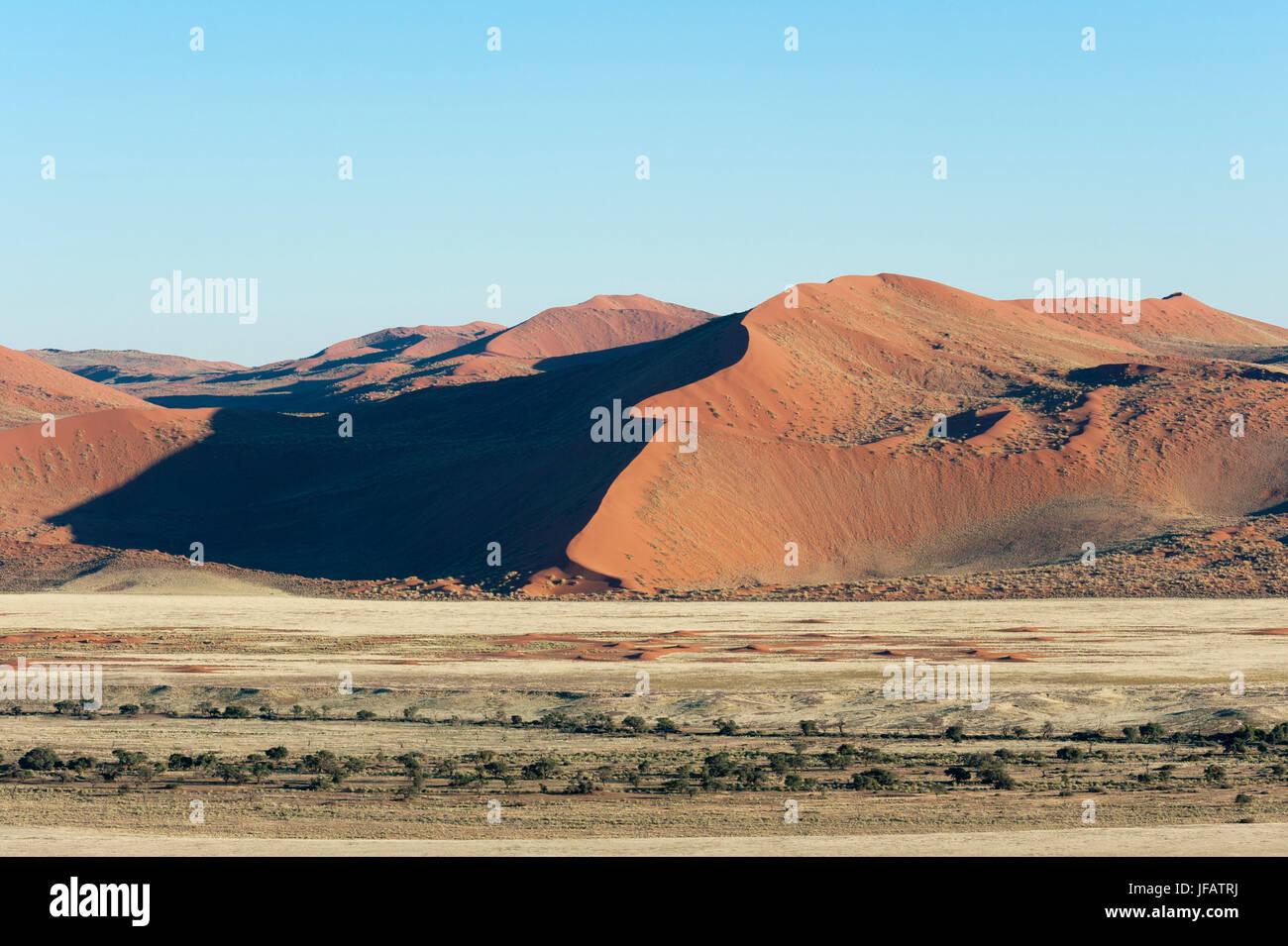 Aerial view, Namib Naukluft Park, Namib Desert, Namibia. - Stock Image
