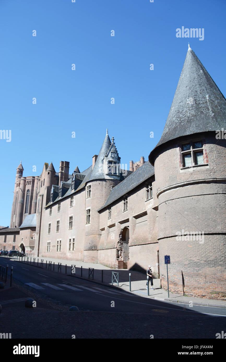 Archbishop square, Albi, Tarn, Occitanie, France - Stock Image