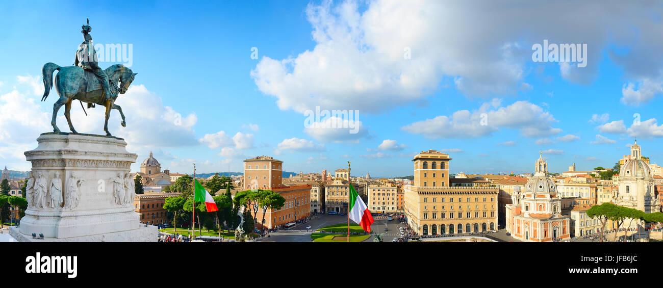 Roma panorama, Italy - Stock Image