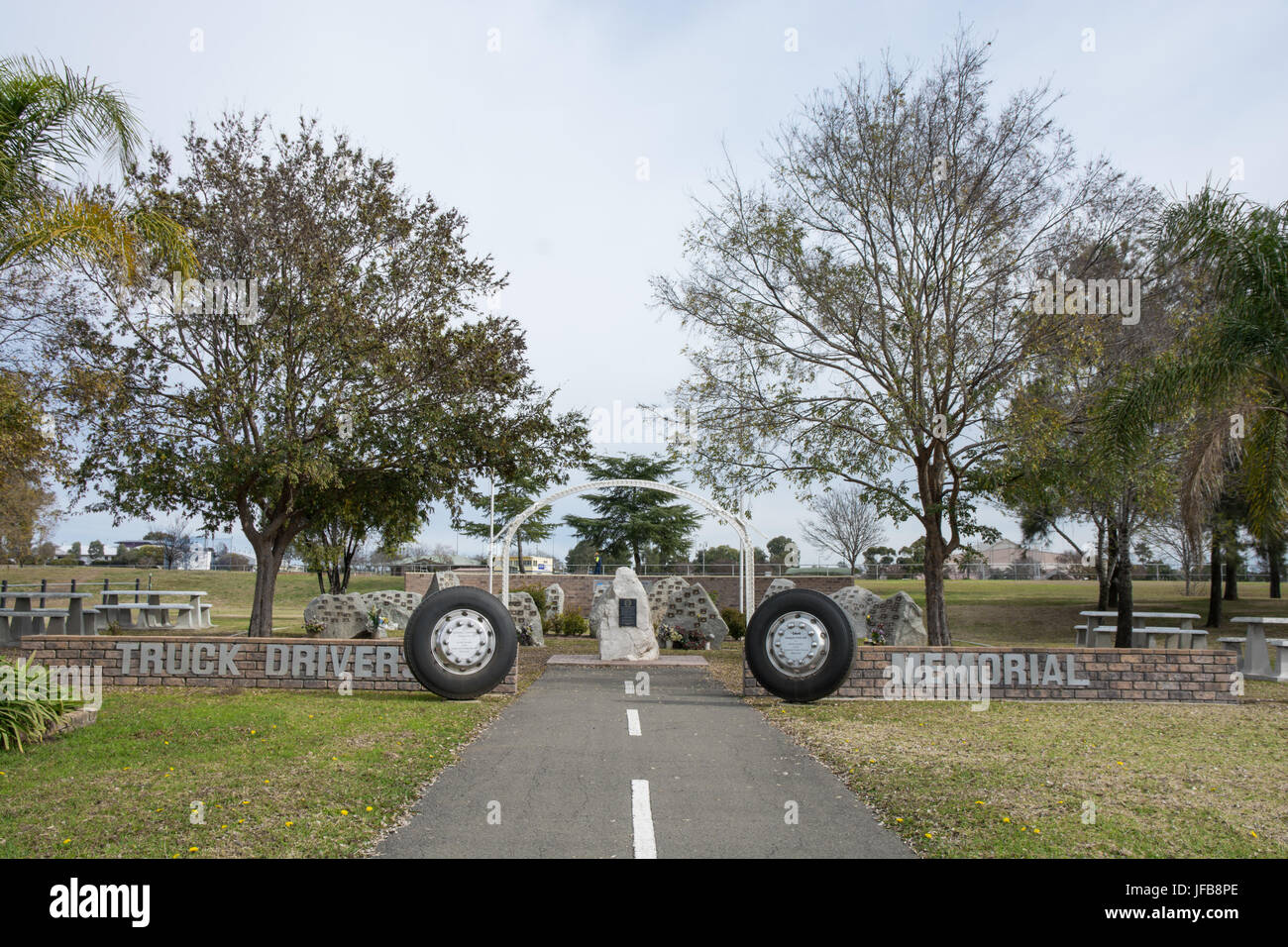 Truck Drivers Memorial Tamworth NSW Australia - Stock Image