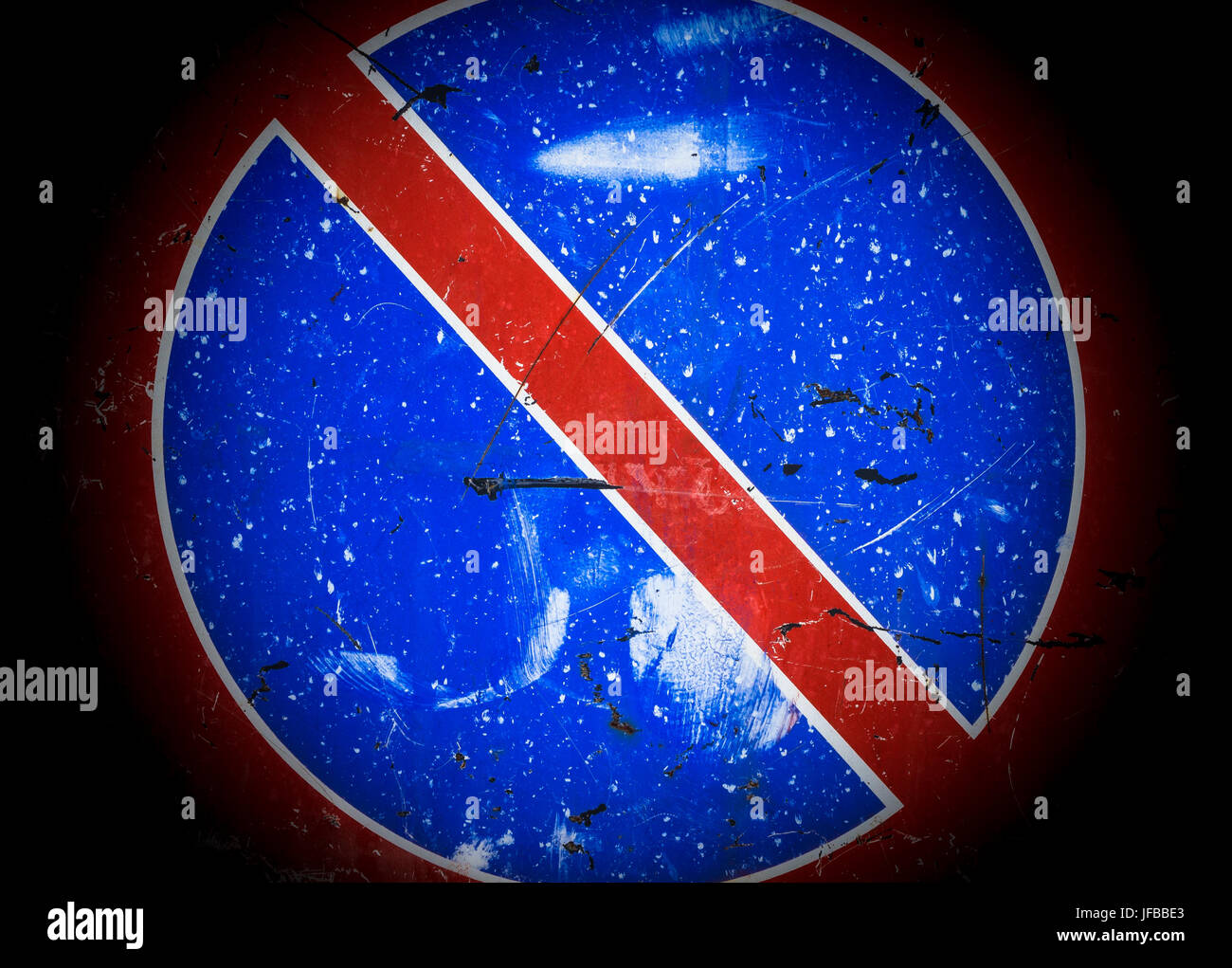 No parking traffic sign - Stock Image