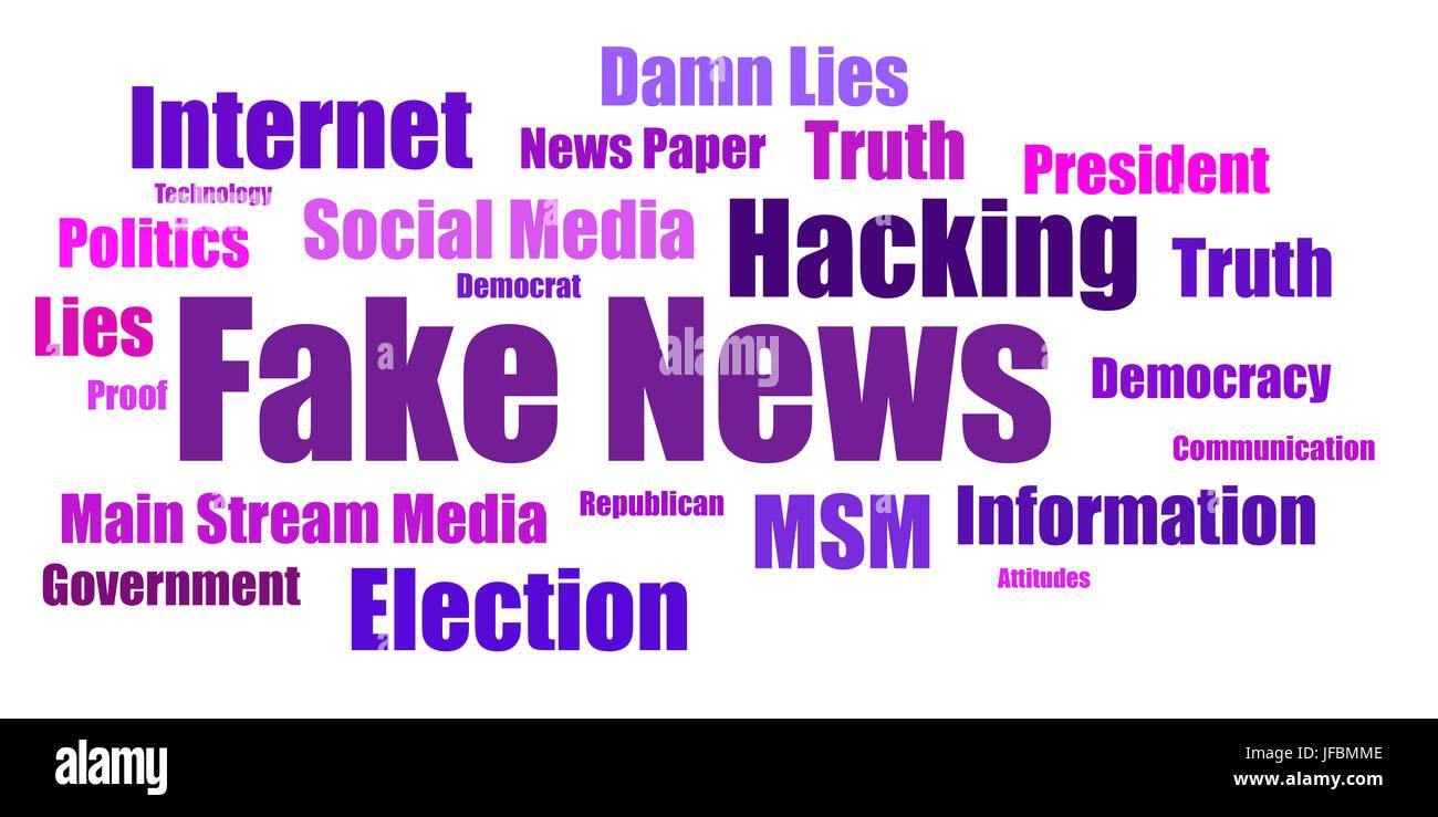 Fake News Infograph - USA - Stock Image