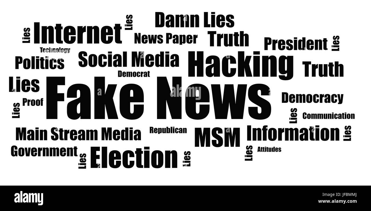 Fake News Infograph - USA - Stock Image
