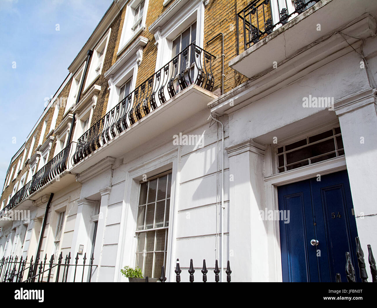 Victorian Style Houses in Camden Town - Stock Image