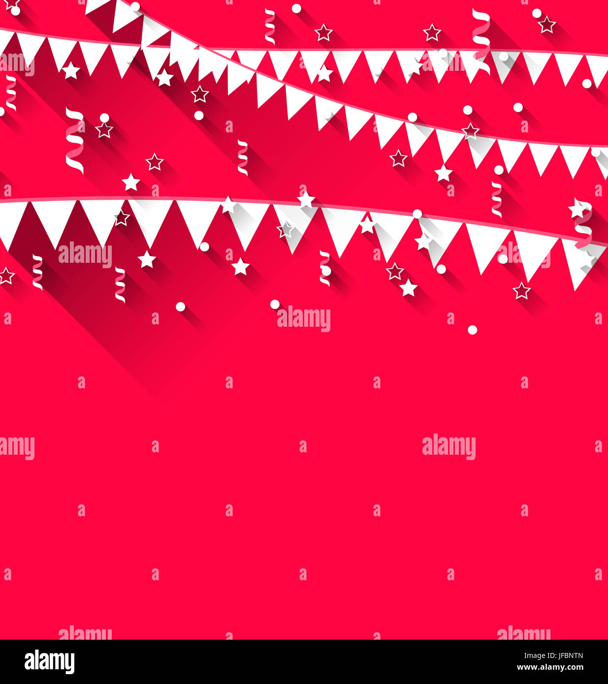 Illustration Cute Background With Hanging Pennants For Carnival