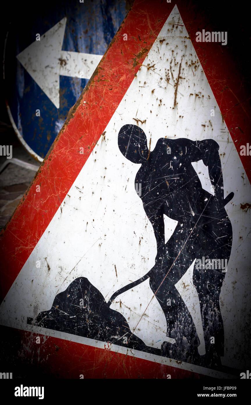 Work in progress sign - Stock Image