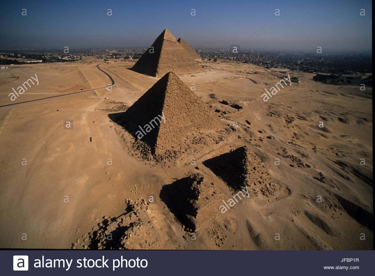 The Pyramids of Giza. - Stock Image