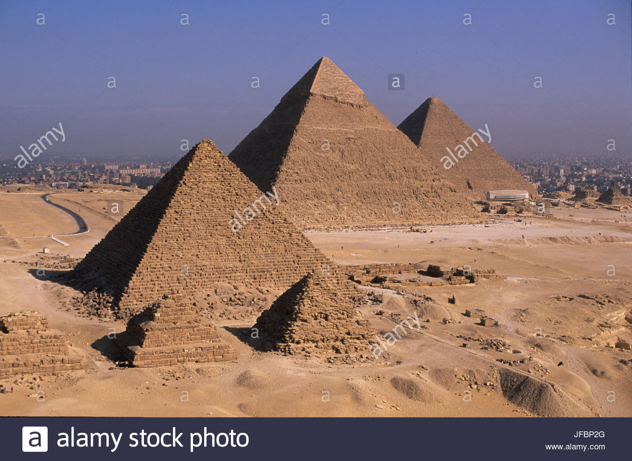Pyramids of Giza. - Stock Image