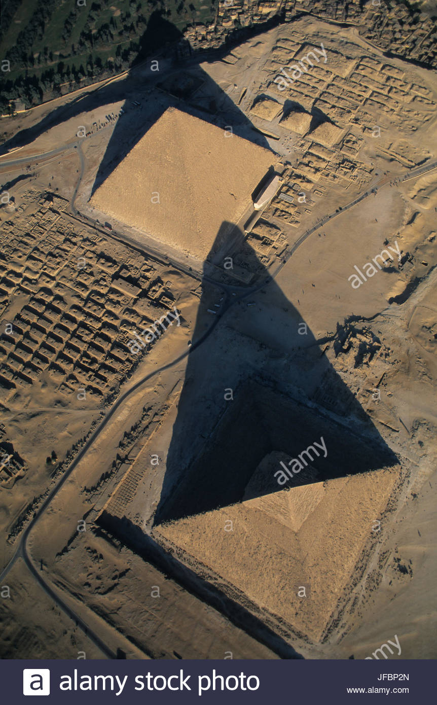 The Pyramids of Menkaure and Khafre. - Stock Image