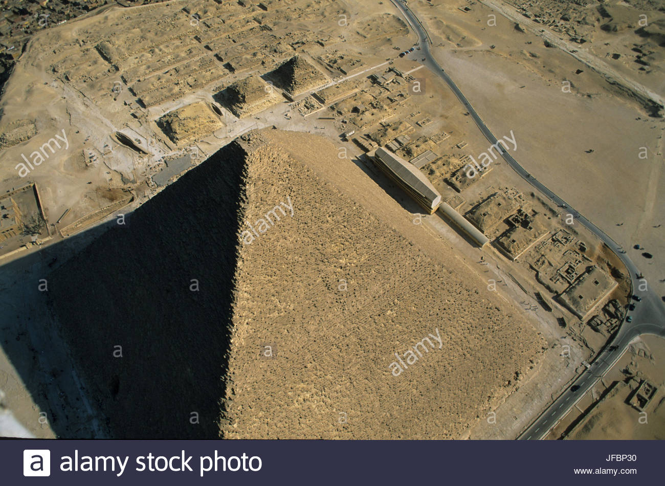 The Pyramid of Khufu. - Stock Image