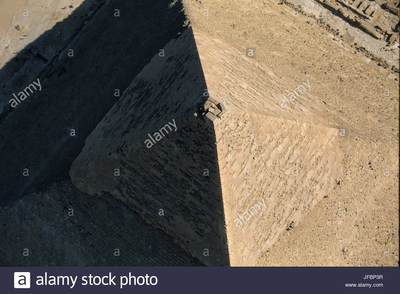 The Pyramid of Khafre. - Stock Image