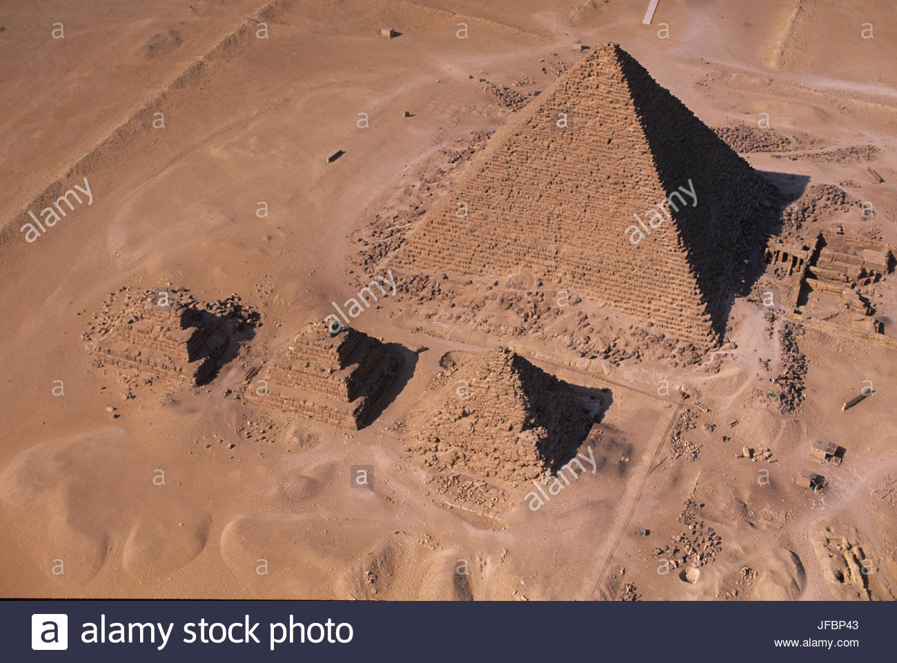 Pyramid of Menkaure. - Stock Image