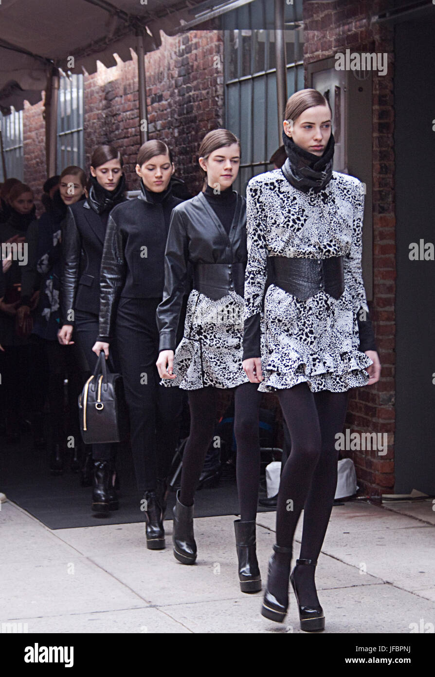 High Fashion models on the Runway - Stock Image