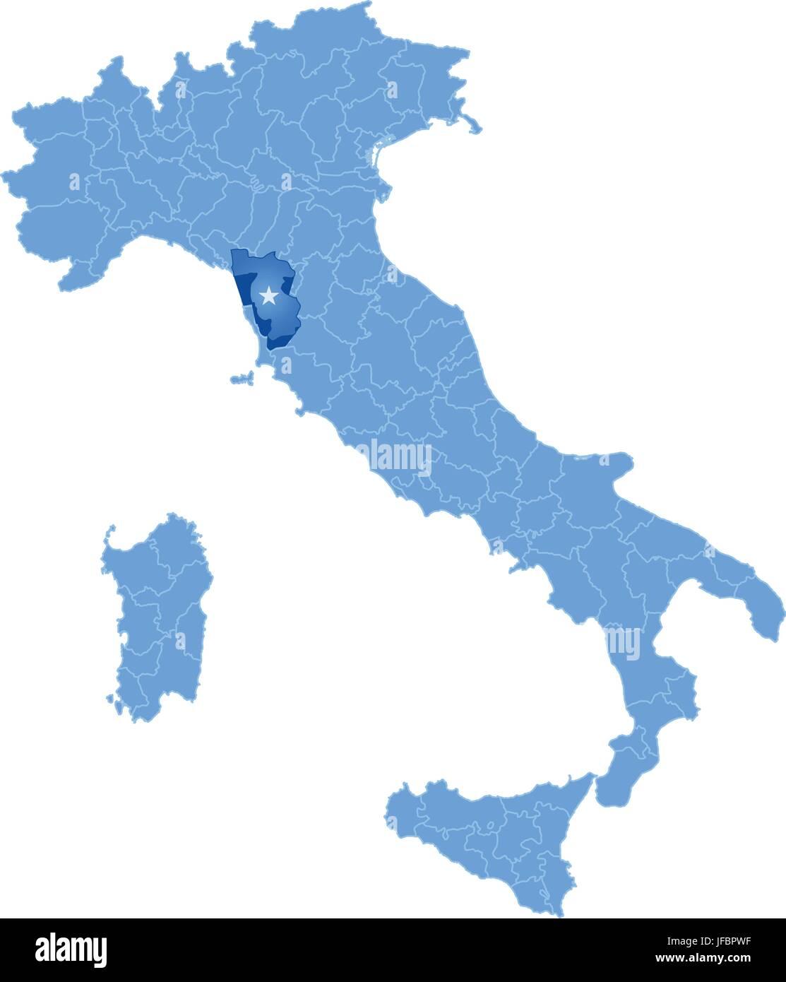 Map of italy pisa stock vector art illustration vector image map of italy pisa gumiabroncs Choice Image