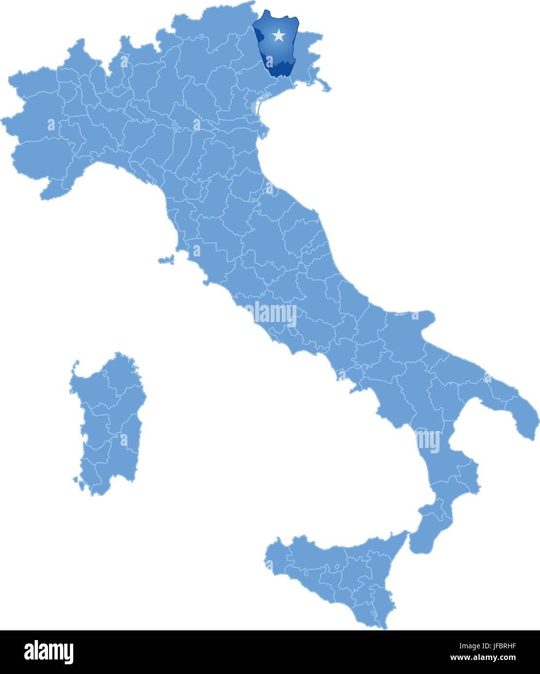 Map Of Italy Pordenone Stock Vector Art Illustration Vector