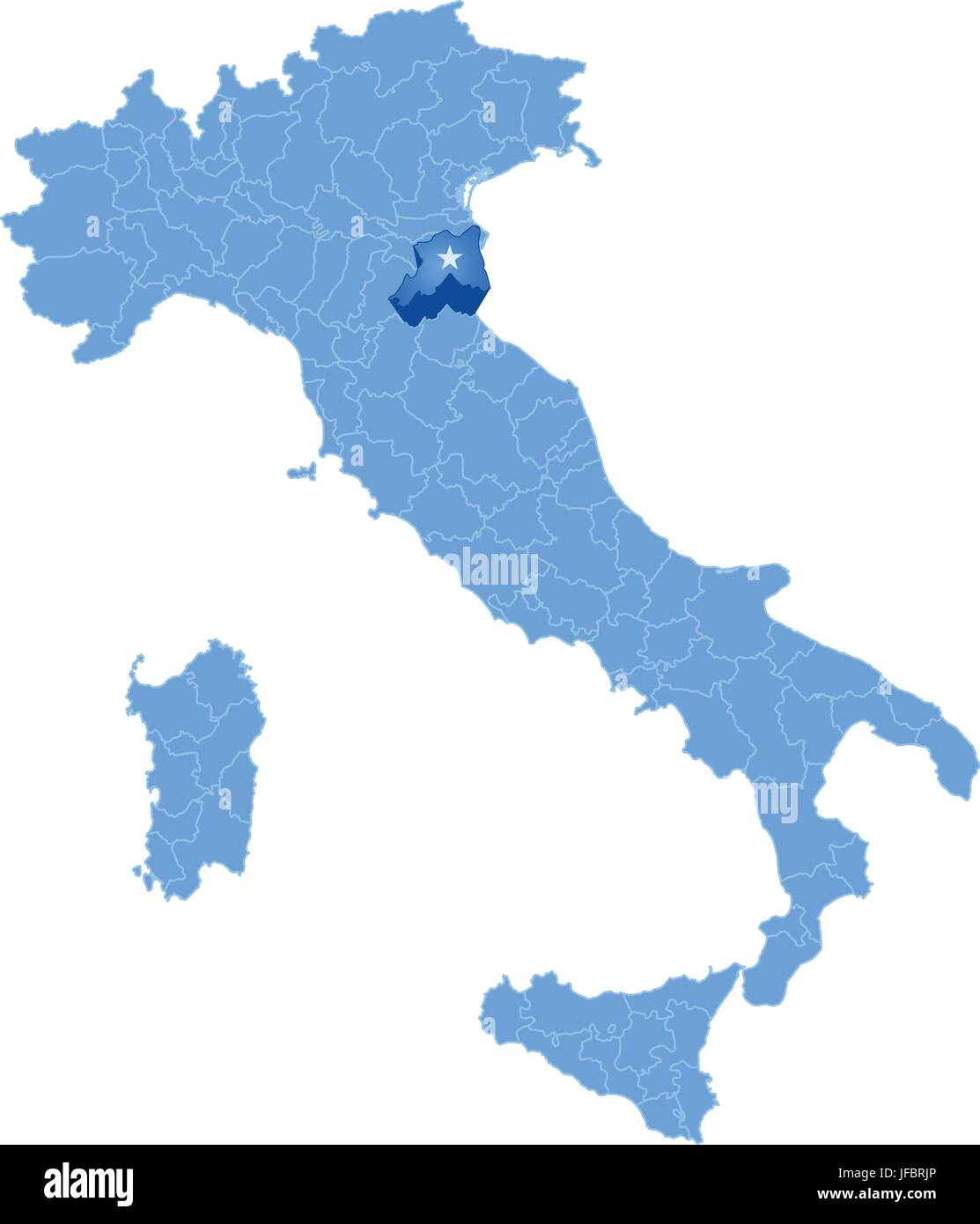 Map of Italy Ravenna Stock Vector Art Illustration Vector Image