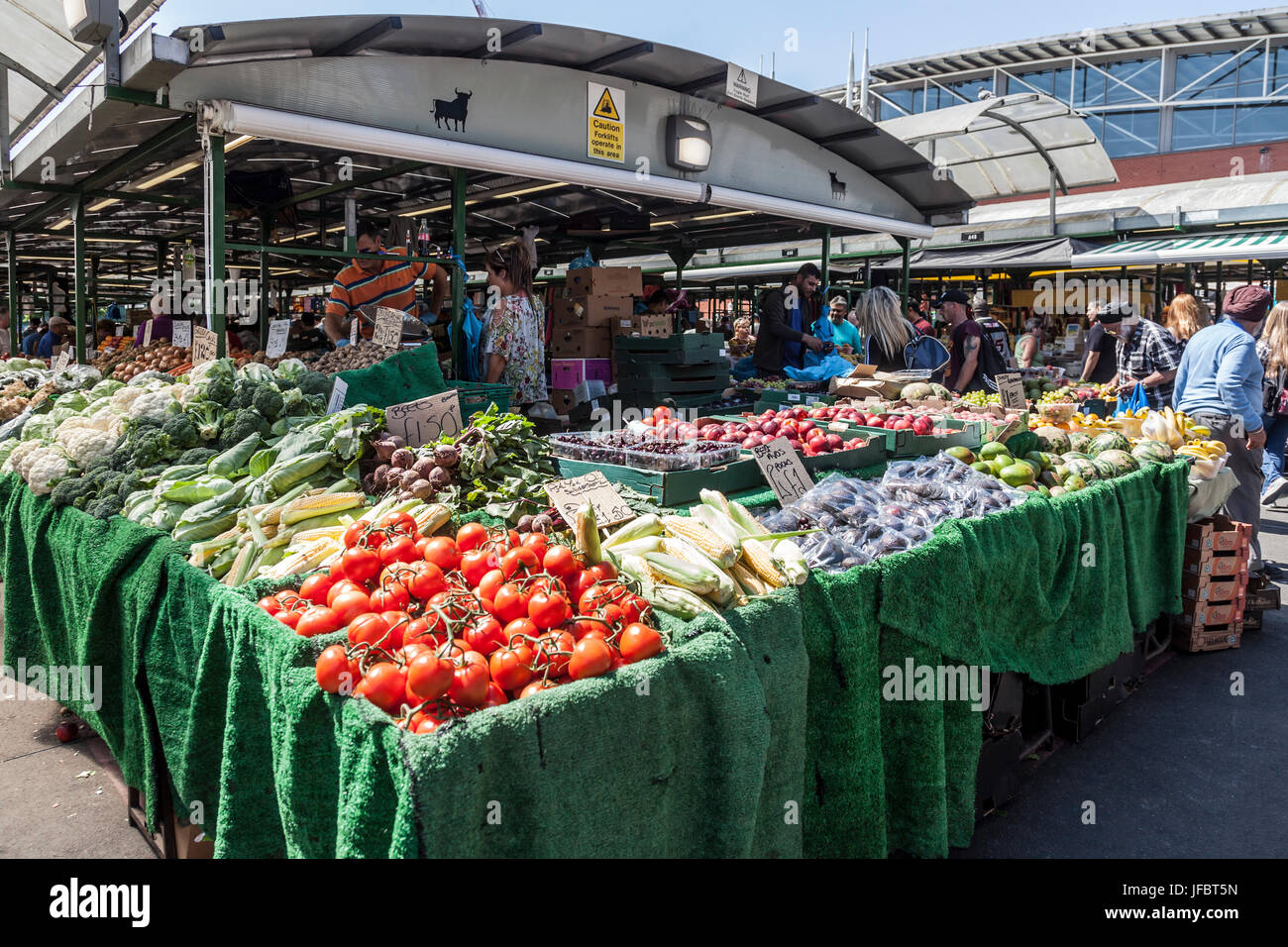 Fruit And Vegetable Stall In The Bullring Market In Central