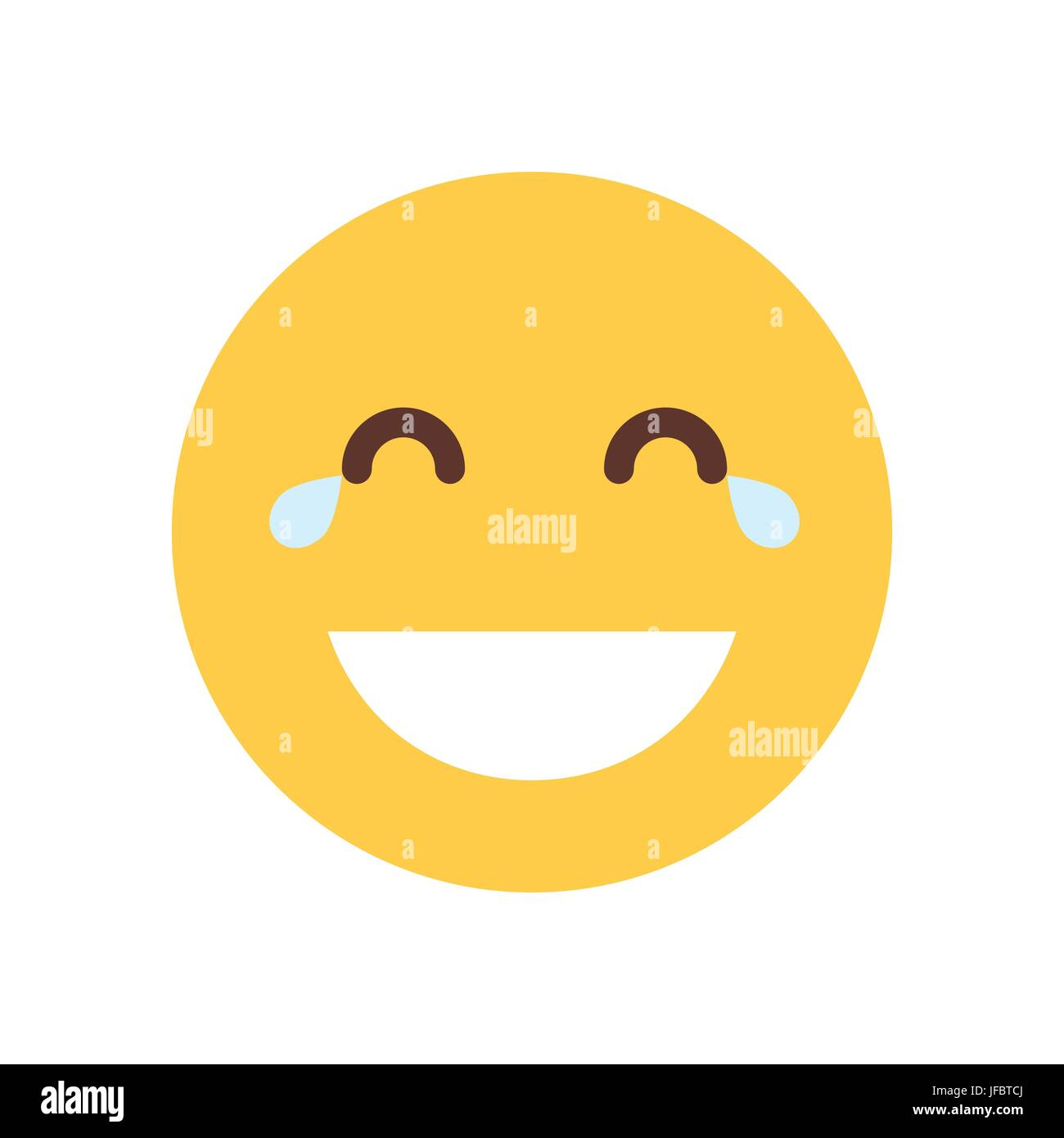 yellow smiling cartoon face laughing emoji people emotion icon stock rh alamy com cartoon laughing face pictures hysterical laughing face cartoon pictures