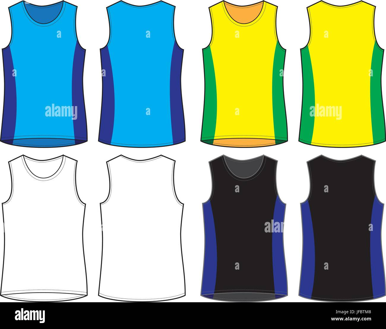 customisable vest template front and back for proofs and sampling