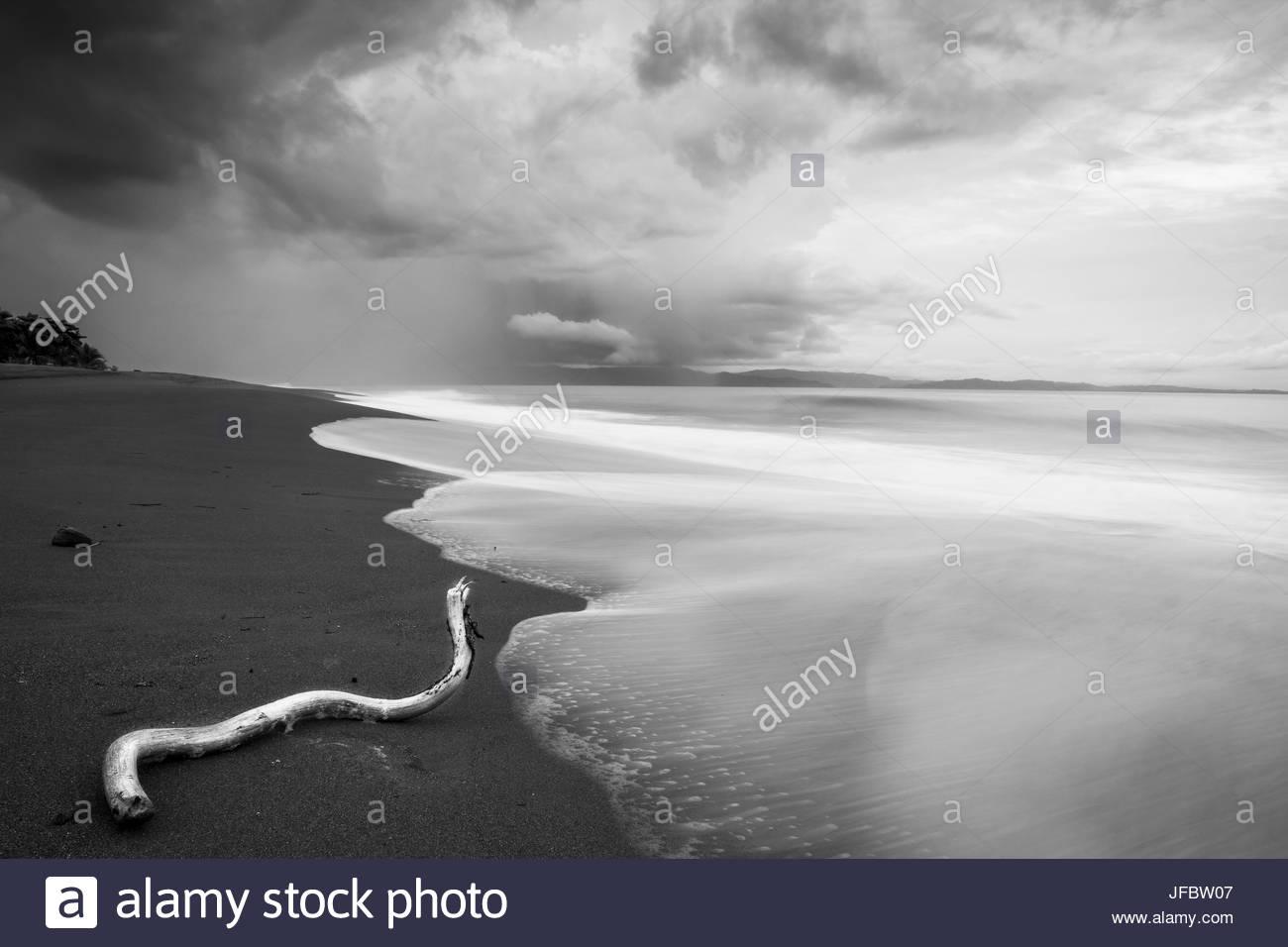 Stormy beach on the Osa Peninsula of Costa Rica. - Stock Image