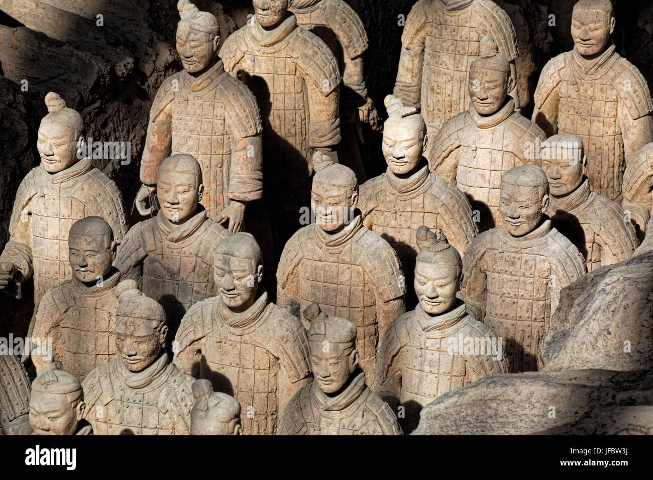 The world famous Terracotta Army, part of the Mausoleum of the First Qin Emperor and a UNESCO World Heritage Site - Stock Image