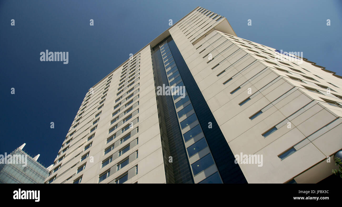 high rise tower block, building regulations - Stock Image