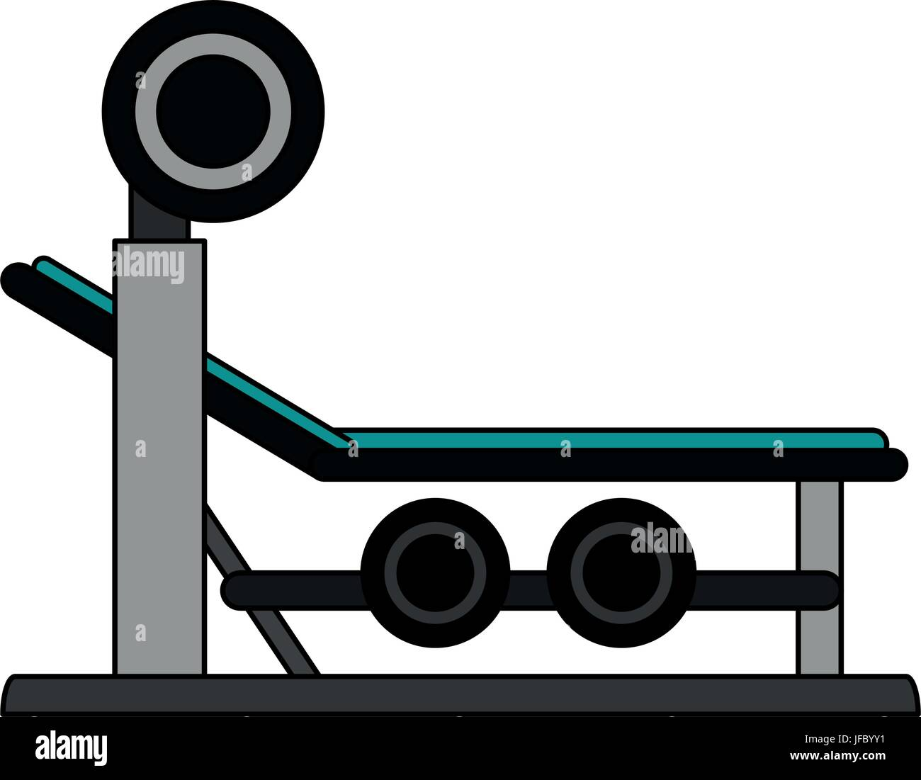 olympic incline bench vector illustration - Stock Vector