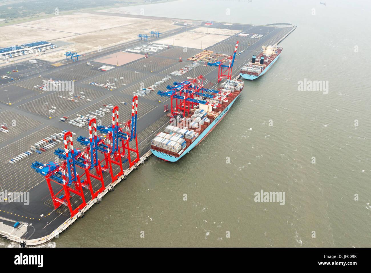 Jade Weser Port Stock Photo