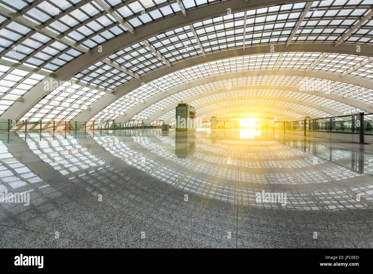 bright futuristic building, natural lighting - Stock Image