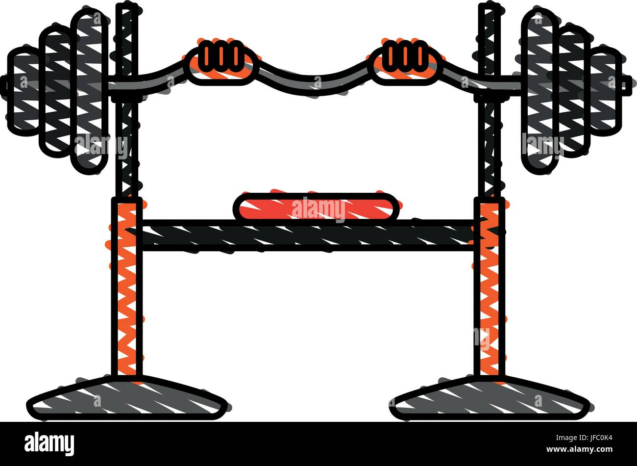barbell vector illustration - Stock Vector