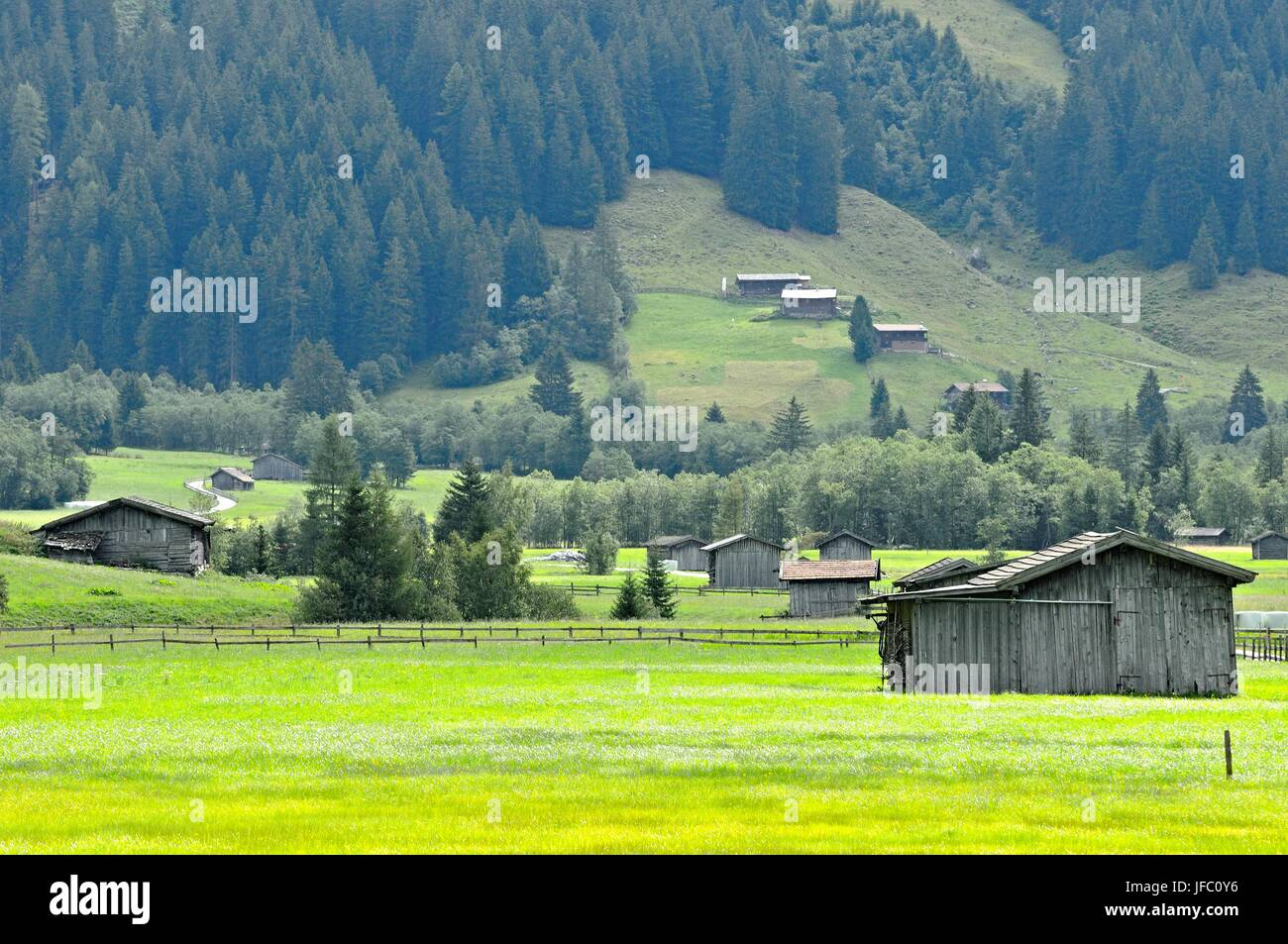 idyll in the Valsertal Tyrol Austria Stock Photo