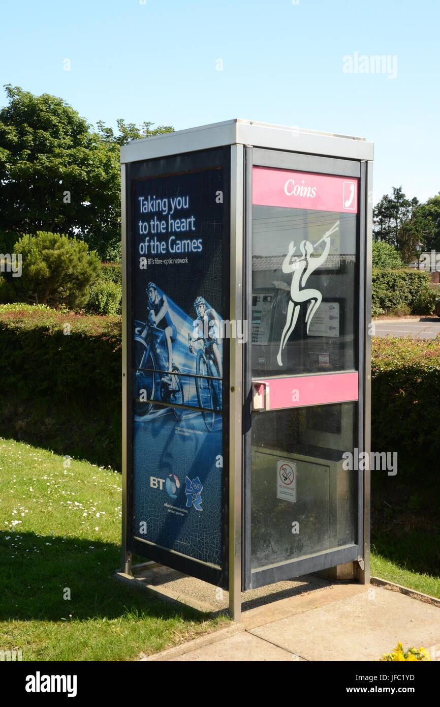 telephone public call box, communication - Stock Image