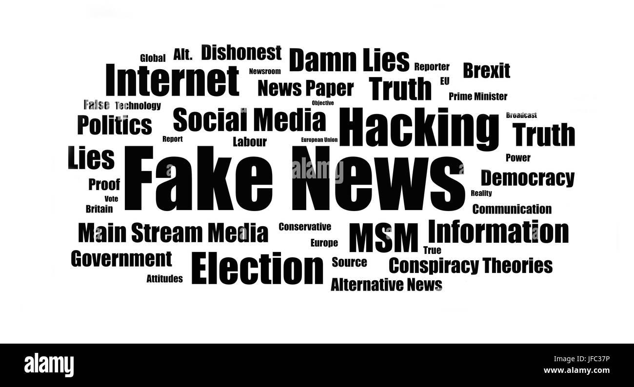 Fake News - Infograph - Stock Image