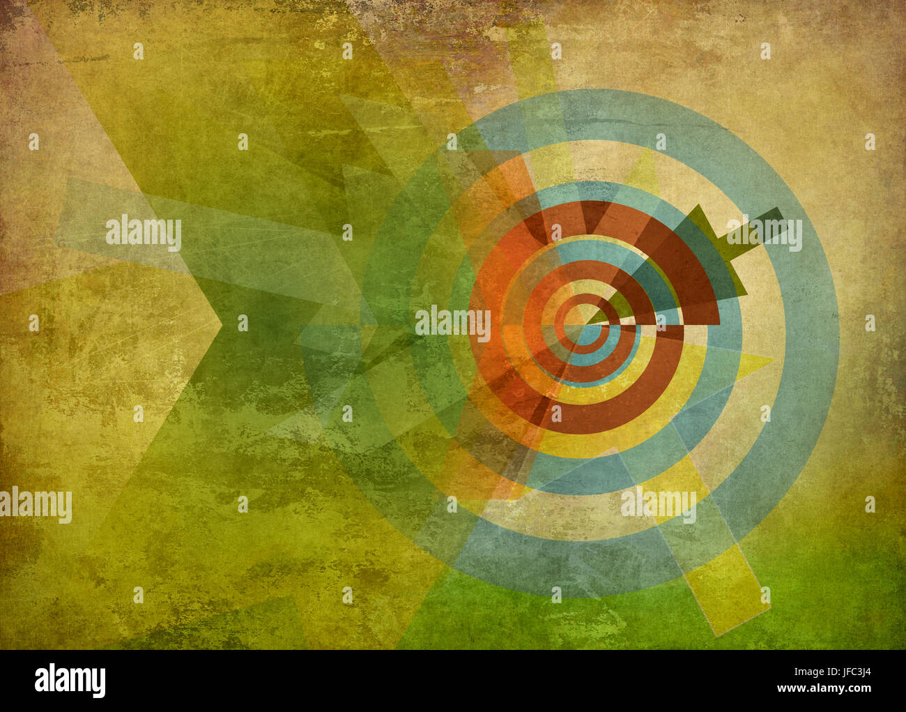 abstract target concept background - Stock Image