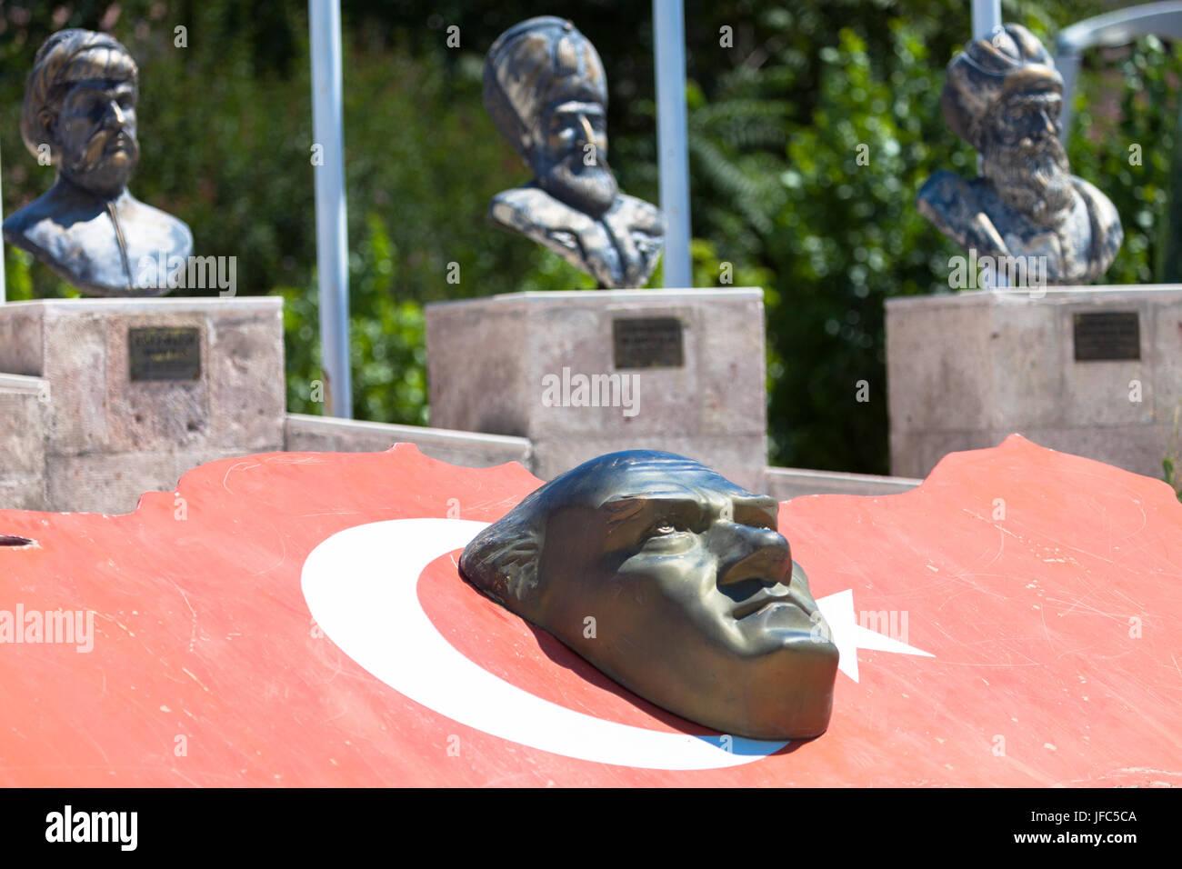 Bas relief of ataturk stock photo: 147170474 alamy