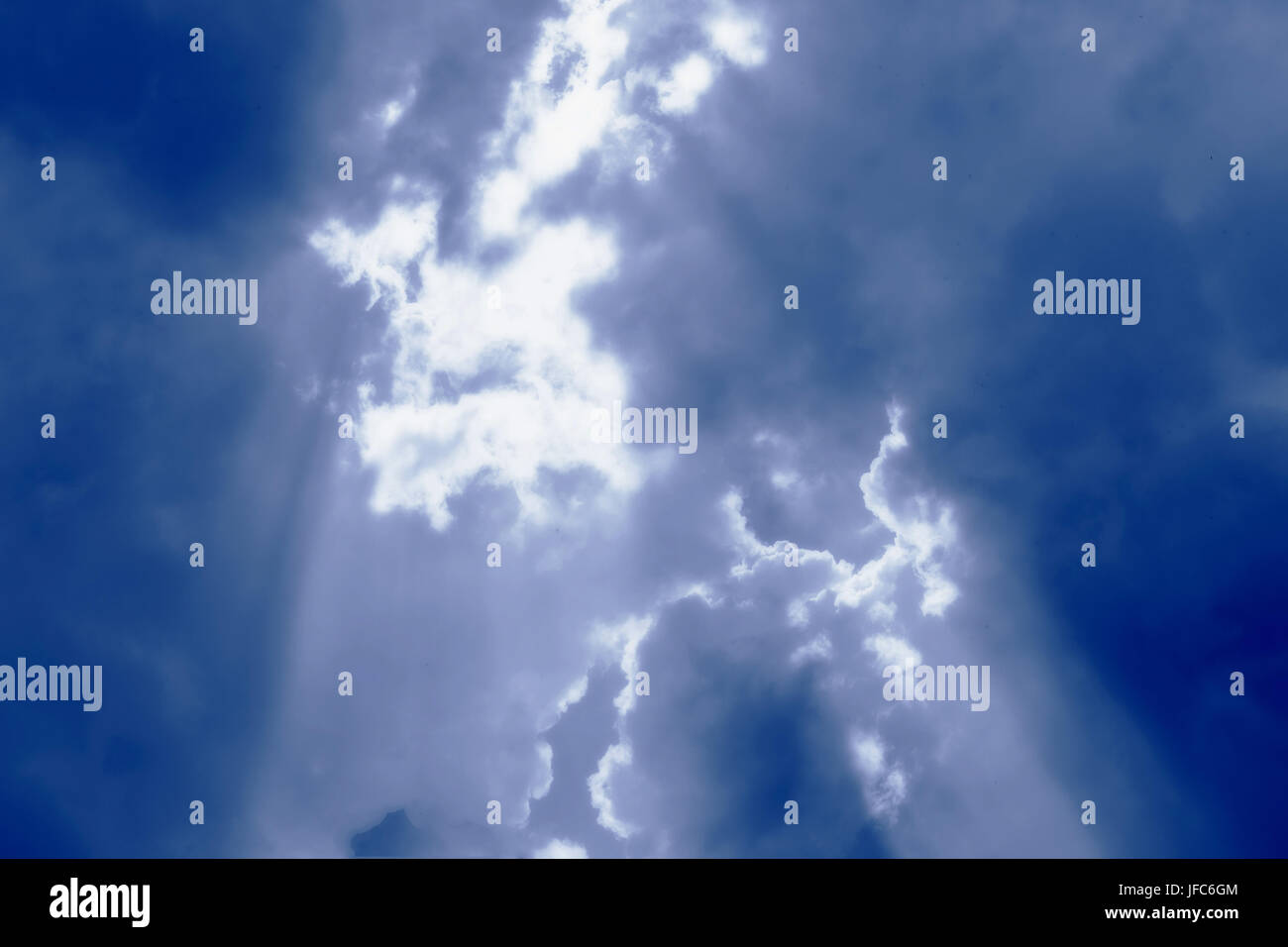 Abstract shadowy clouds picture - Stock Image