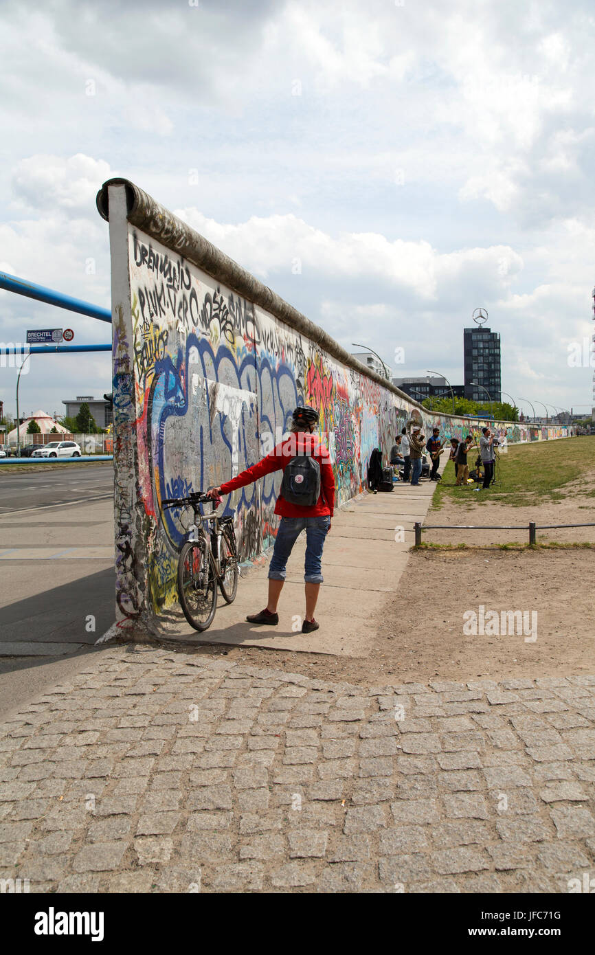 Eastside Gallery - Berlin - Stock Image