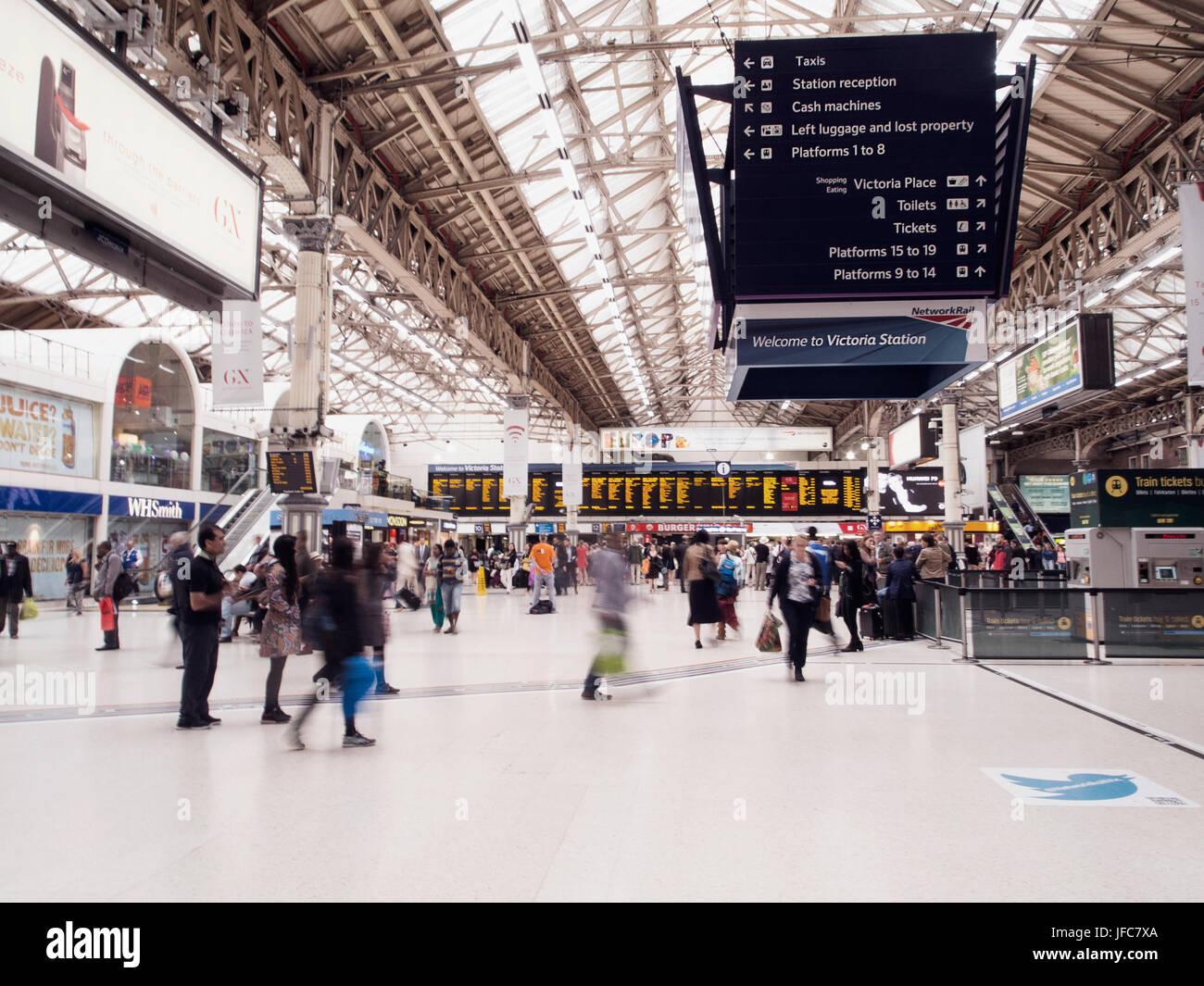 Victoria Train Station - London - Stock Image