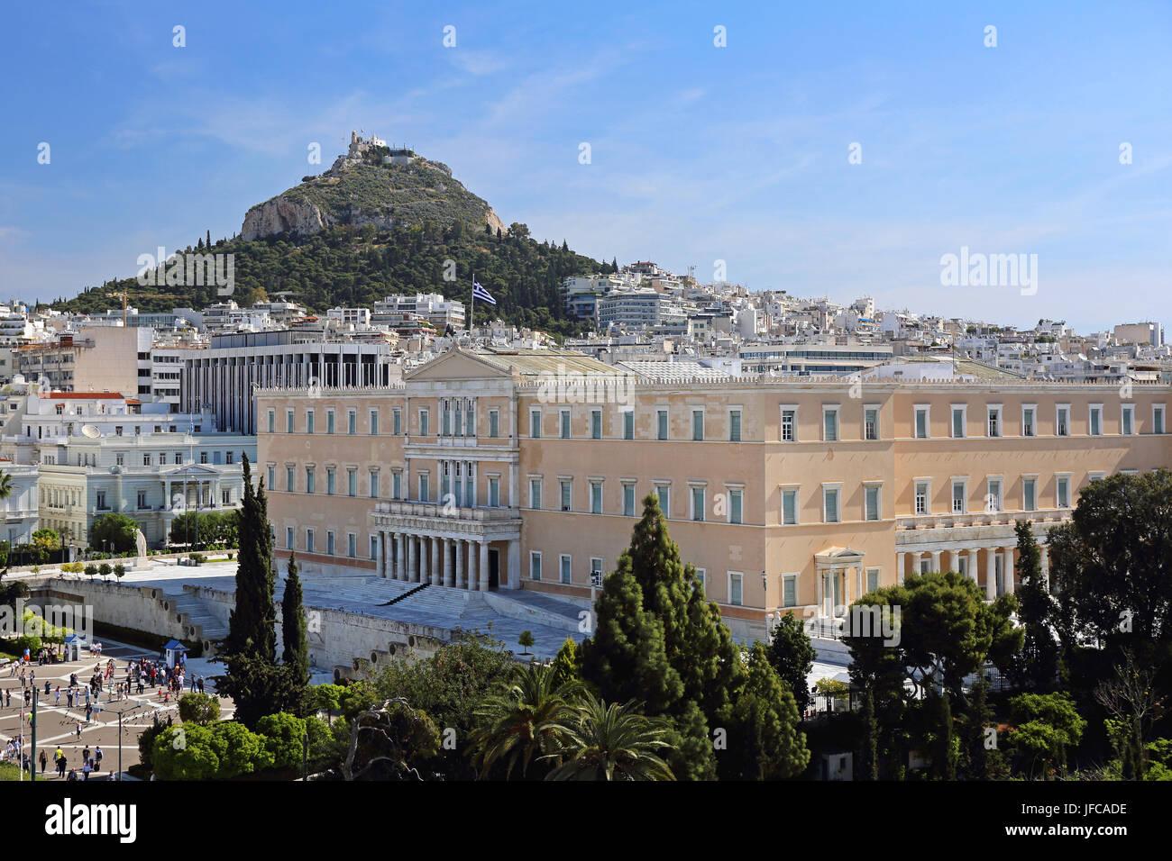 Hellenic Parliament - Stock Image