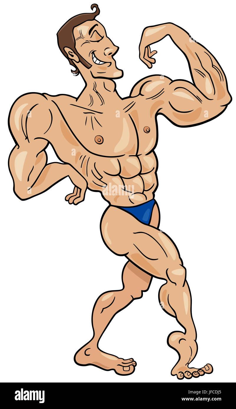 Cartoon Bodybuilder Stock Photos Cartoon Bodybuilder Stock Images