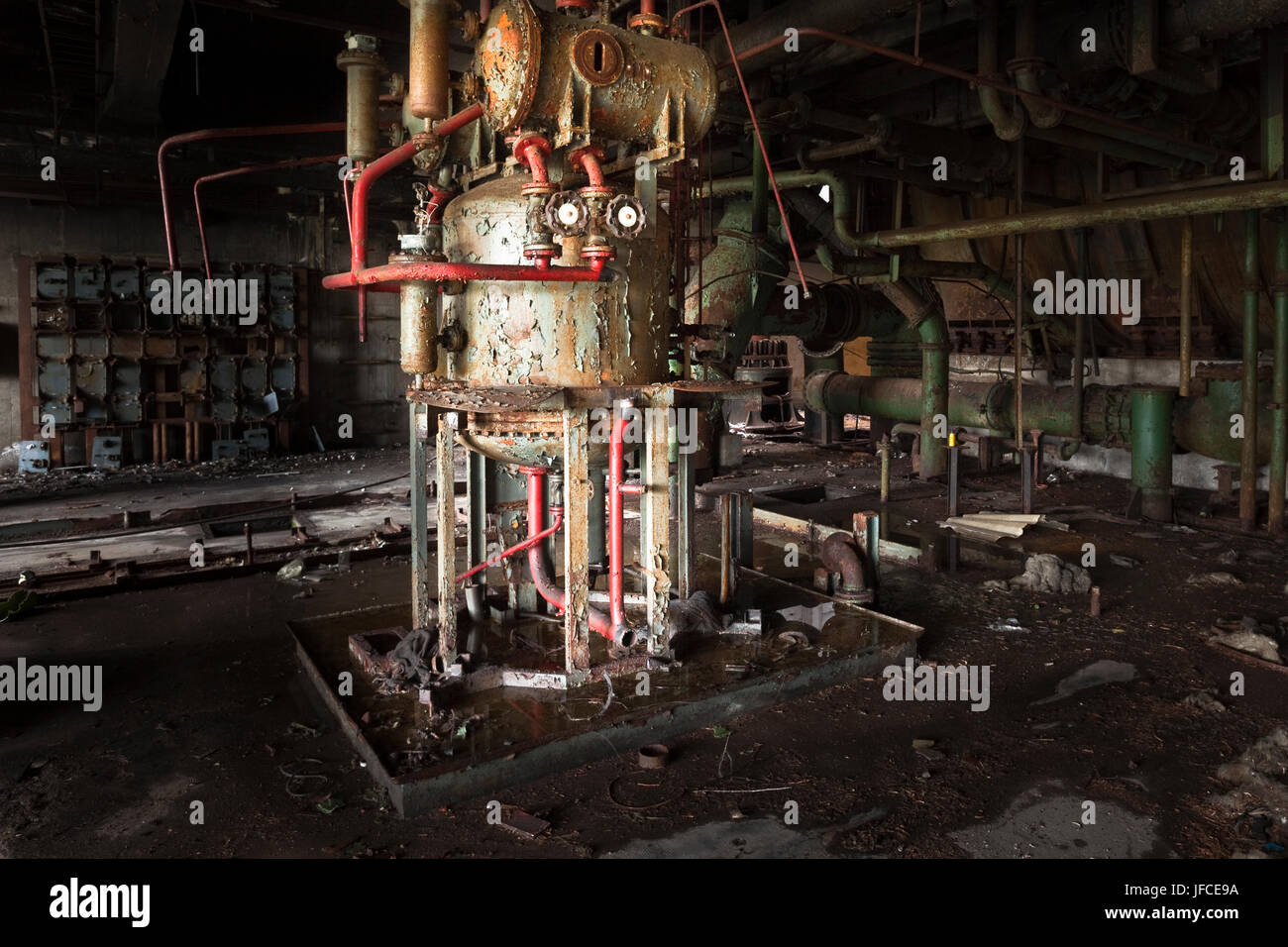 Abandoned industrial site near Venice, Italy. Stock Photo