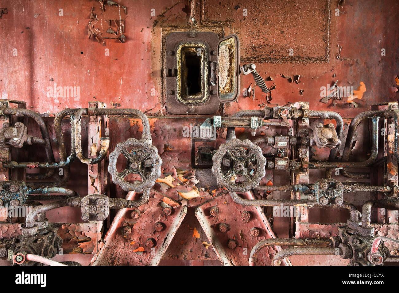 Abandoned industrial site near Venice, Italy. Stock Photo