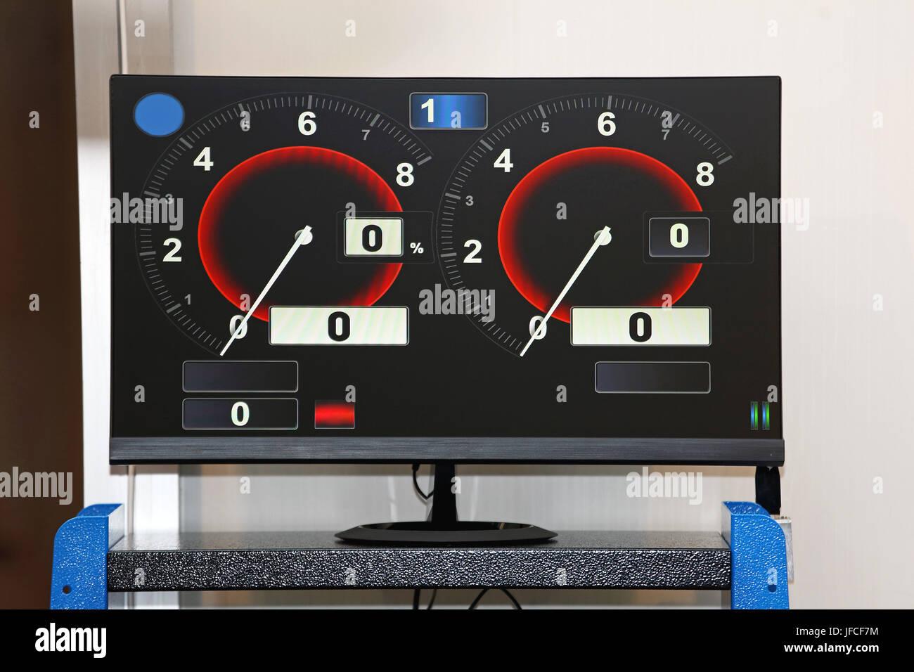Wheels Alignment Display - Stock Image